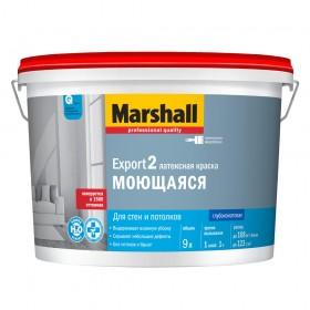 Краска Marshall Export-2 в/д для стен и потолков глубокоматовая, 9л