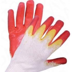 Перчатки с 2-слойн латексным покрытием (красные)