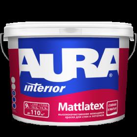 """Краска моющаяся для стен и потолков """"AURA MATTLATEX"""" 9л"""