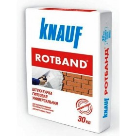 Штукатурка гипсовая КНАУФ (KNAUF) Ротбанд, 30 кг