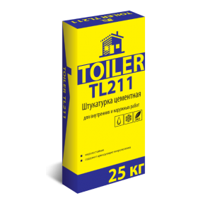 TOILER TL211 Штукатурка цементная, 25кг